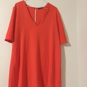 American Apparel Coral mini shift dress
